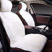Car souvenirs handmade. Livemaster - original item Covers for seats natural sheepskin. Handmade.