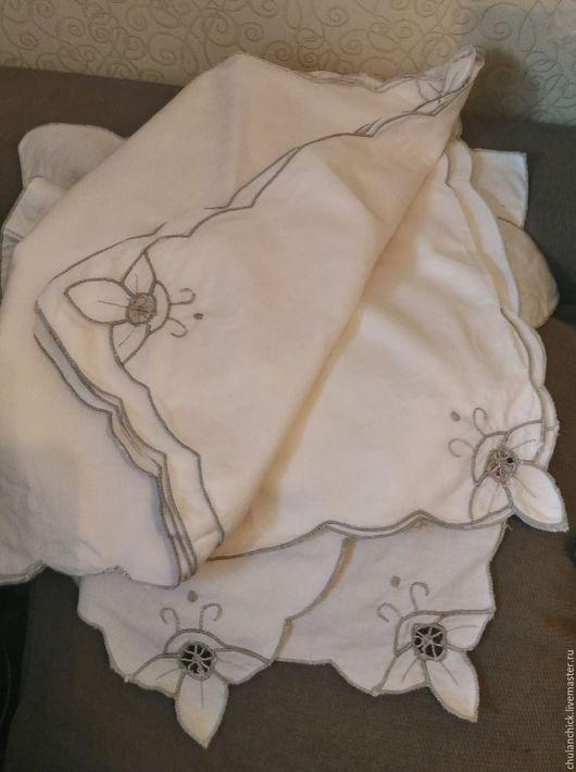 салфетка для сервировки, хлопок, скатерть маленькая, салфетка с вышивкой, винтажная салфетка, салфетка для кухни, салфетка из ткани, салфетка. фото вечером.