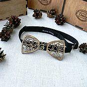 Аксессуары ручной работы. Ярмарка Мастеров - ручная работа Галстук бабочка деревянная. Handmade.