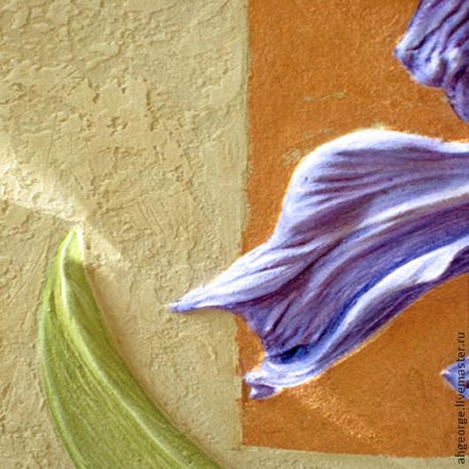 Картины цветов ручной работы. Ярмарка Мастеров - ручная работа. Купить Ирис- цветок мудрости, красоты и печали!. Handmade. Фиолетовый
