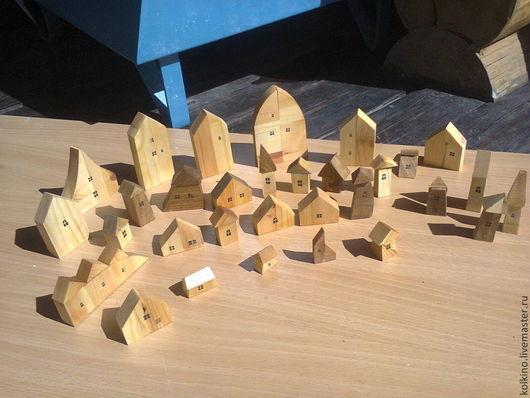 Развивающие игрушки ручной работы. Ярмарка Мастеров - ручная работа. Купить домики игрушечные. Handmade. Желтый, авторская работа, мербау