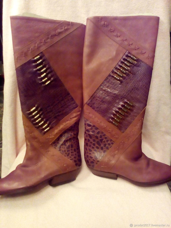 Винтажная обувь. Ярмарка Мастеров - ручная работа. Купить Винтаж: сапоги женские Италия. Handmade. Винтаж, сапоги демисезонные