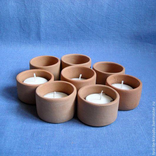 керамический подсвечник для свечи гильзы, заготовка для декупажа и росписи