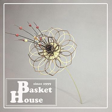 Flowers and floristry handmade. Livemaster - original item Wicker flower, Flowers in the floor vase 4. Handmade.