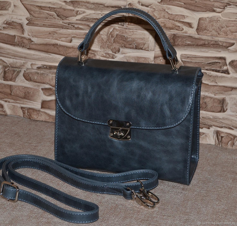 A compact handbag from genuine leather. Model No. 241, Classic Bag, Bogorodsk,  Фото №1