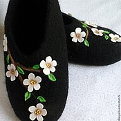 """Обувь ручной работы. Ярмарка Мастеров - ручная работа Тапочки """" Всегда весна"""". Handmade."""