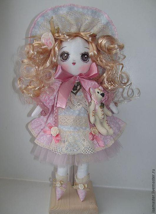 Коллекционные куклы ручной работы. Ярмарка Мастеров - ручная работа. Купить Бланш. Handmade. Бледно-розовый, барышня, анимэ, трессы
