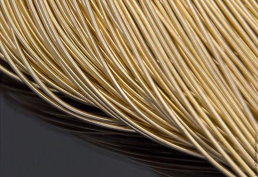 Для украшений ручной работы. Ярмарка Мастеров - ручная работа. Купить Канитель 1мм мягкая гладкая Светлое золото (KAN-7) Индия. Handmade.