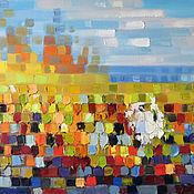 Картины и панно handmade. Livemaster - original item Oil painting Autumn Mirage.. Handmade.