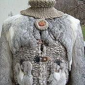 """Одежда ручной работы. Ярмарка Мастеров - ручная работа Жакет  с мехом """" Теплый ретровинтаж"""". Handmade."""