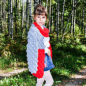 Работы для детей, ручной работы. Ярмарка Мастеров - ручная работа Вязаный кардиган, кардиган спицами, кардиган объемный. Handmade.