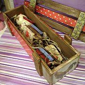 Подарки к праздникам ручной работы. Ярмарка Мастеров - ручная работа Новогодний ящик с игрушками( с символом 2017 года). Handmade.