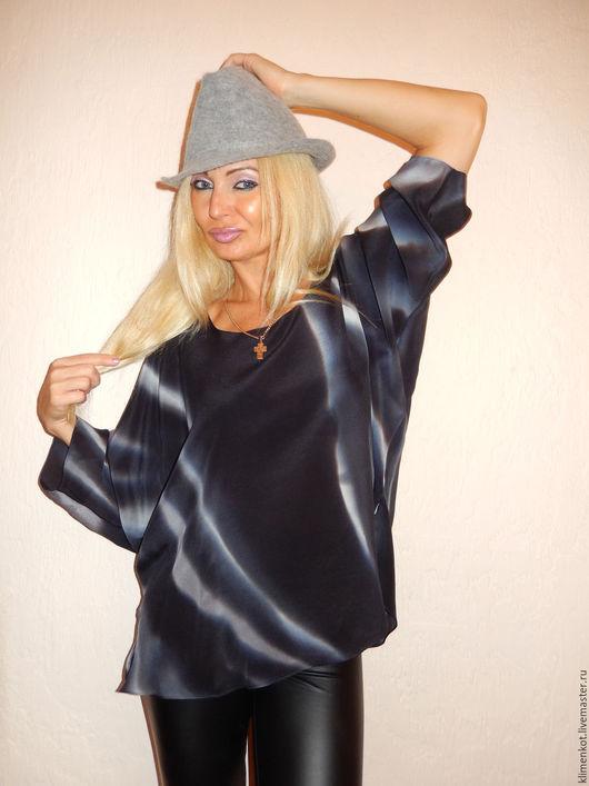 Блузки ручной работы. Ярмарка Мастеров - ручная работа. Купить блуза Классическая. Handmade. Черный, женская одежда, деловая одежда