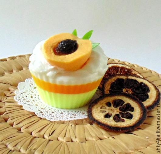 """Мыло ручной работы. Ярмарка Мастеров - ручная работа. Купить Мыло """"Абрикосовое пирожное"""". Handmade. Оранжевый, персик"""