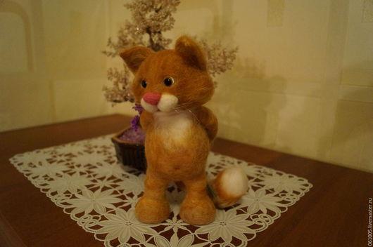 Игрушки животные, ручной работы. Ярмарка Мастеров - ручная работа. Купить Рыжий кот. Handmade. Рыжий, шерсть 100%