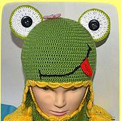 """Работы для детей, ручной работы. Ярмарка Мастеров - ручная работа Комплект """"Веселый лягушонок"""". Handmade."""