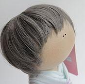 """Материалы для творчества ручной работы. Ярмарка Мастеров - ручная работа Кукольный парик""""Мальчиковый седой"""". Handmade."""