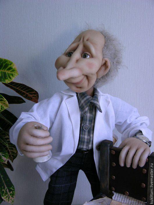 Коллекционные куклы ручной работы. Ярмарка Мастеров - ручная работа. Купить Химик. Handmade. Белый, подарок