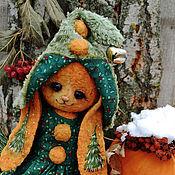 """Куклы и игрушки ручной работы. Ярмарка Мастеров - ручная работа Плюшевая зайка """"Мандариновый гном"""". Handmade."""