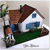 Куклы и игрушки ручной работы. Ярмарка Мастеров - ручная работа Избушка для Зайки. Миниатюрный кукольный домик.. Handmade.