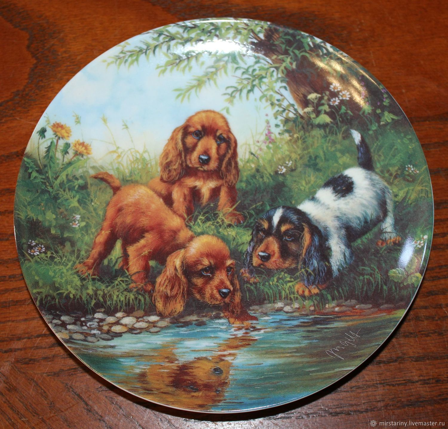 Magnificent series of plates 'Our four-legged Pets', Vintage interior, Moscow,  Фото №1