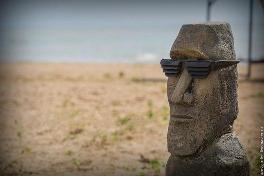 Экстерьер и дача ручной работы. Ярмарка Мастеров - ручная работа. Купить Крутой МОАИ истукан с острова Пасхи в металлических очках. Handmade.