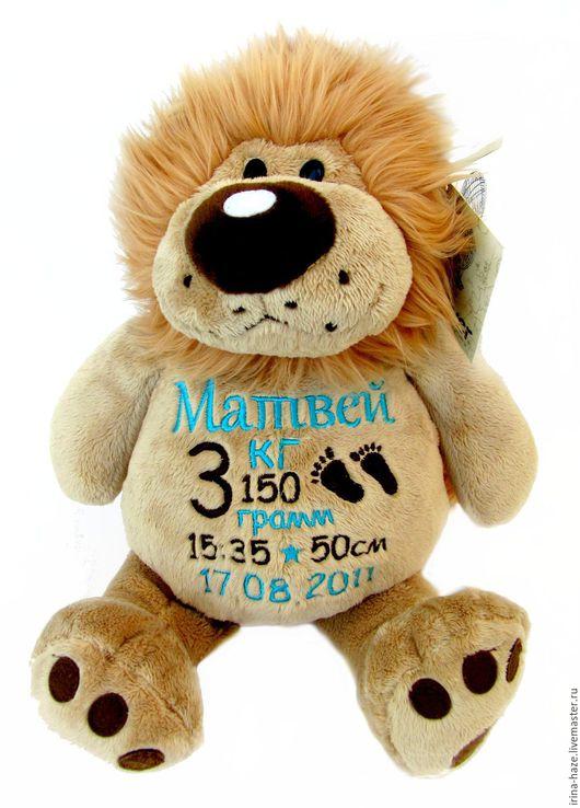 Игрушки животные, ручной работы. Ярмарка Мастеров - ручная работа. Купить Львенок с метрикой. Handmade. Бежевый, День рождение, новорожденный