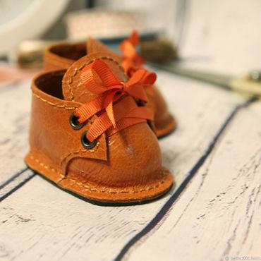 Куклы и игрушки ручной работы. Ярмарка Мастеров - ручная работа Ботинки рыжие №1. Handmade.