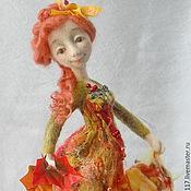 """Куклы и игрушки ручной работы. Ярмарка Мастеров - ручная работа Войлочная кукла  """"Осенняя..."""". Handmade."""
