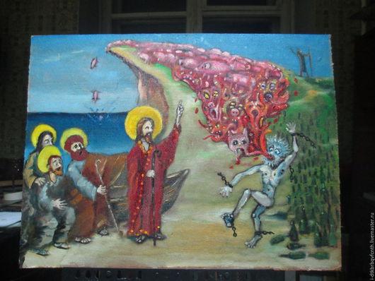 Иисус излечивает бесноватого.