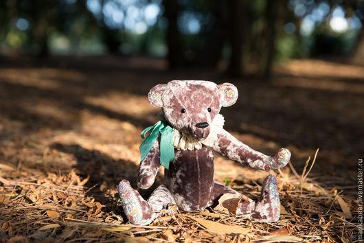 Мишки Тедди ручной работы. Ярмарка Мастеров - ручная работа. Купить Мишка Tедди Брам. Handmade. Сиреневый, мишка тедди