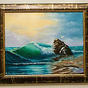 Картины ручной работы. Ярмарка Мастеров - ручная работа Волна (по мотивам). Handmade.