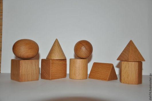 Развивающие игрушки ручной работы. Ярмарка Мастеров - ручная работа. Купить Набор геометрических тел из дерева  ( 9 шт . ). Handmade.