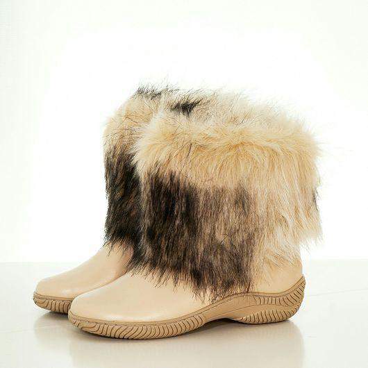 Обувь ручной работы. Ярмарка Мастеров - ручная работа. Купить Унты женские ( литая подошва ) уж70. Handmade.