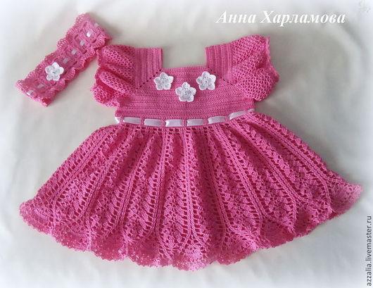 """Одежда для девочек, ручной работы. Ярмарка Мастеров - ручная работа. Купить Комплект """"Розовая мечта"""". Handmade. Розовый, платье крючком"""