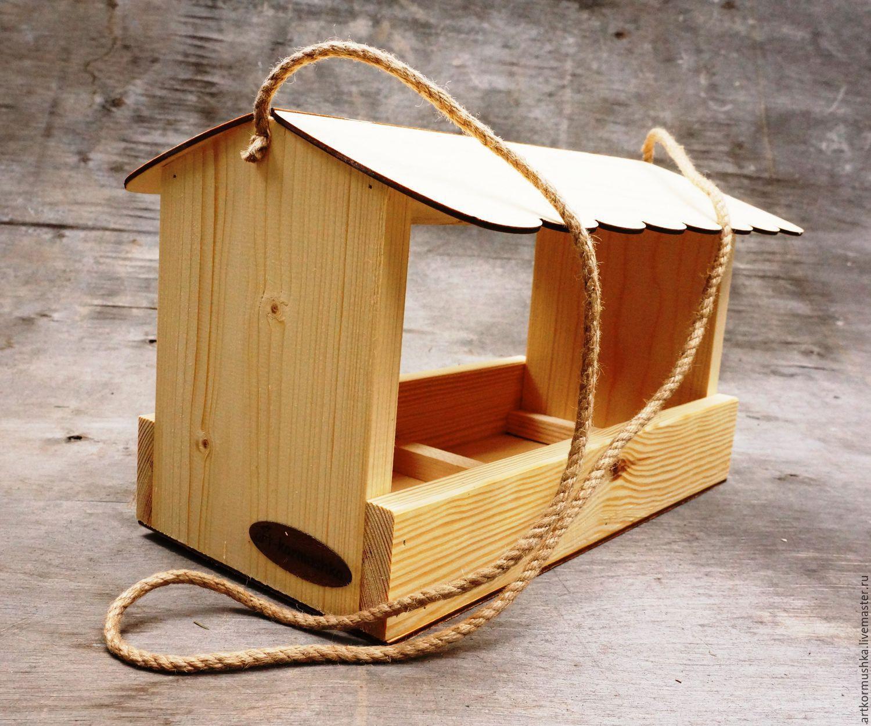 Деревянная кормушка для раскрашивания