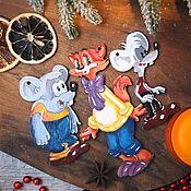 Куклы и пупсы ручной работы. Ярмарка Мастеров - ручная работа Кот Леопольд и мыши, елочные игрушки. Handmade.