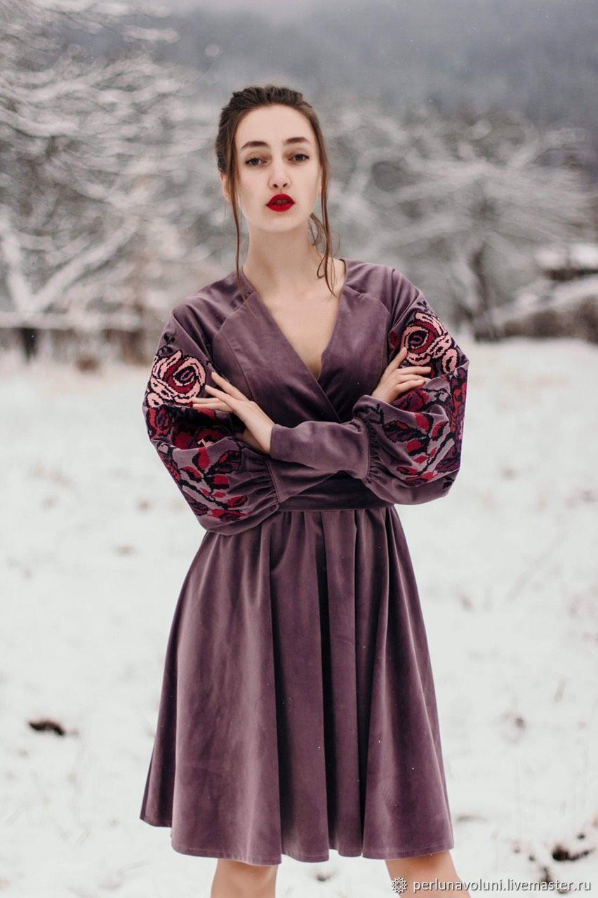 купить бархатное платье на валберис