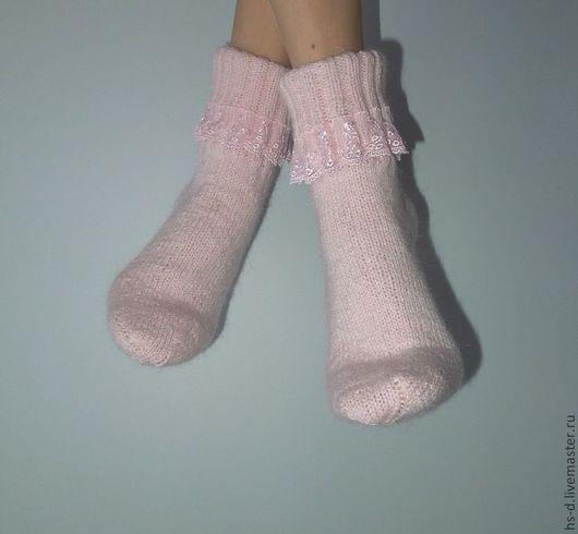 Носки, Чулки ручной работы. Ярмарка Мастеров - ручная работа. Купить Осенний вечер. Handmade. Бледно-розовый, подарок женщине