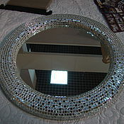 Для дома и интерьера ручной работы. Ярмарка Мастеров - ручная работа Зеркало в мозаичной раме, серебряный объем. Handmade.