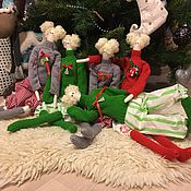 Куклы и игрушки ручной работы. Ярмарка Мастеров - ручная работа Куклы новогодние Тильда. Handmade.