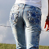 Одежда handmade. Livemaster - original item Jeans Lyudmila. Handmade.
