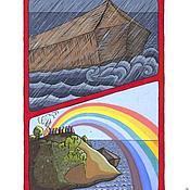 Картины и панно ручной работы. Ярмарка Мастеров - ручная работа Всемирный потоп, радуга - завет Бога. Handmade.
