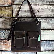 Сумки и аксессуары handmade. Livemaster - original item Large leather bag. Handmade.