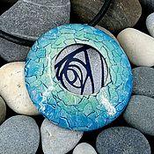 Украшения handmade. Livemaster - original item Pendant from polymer clay - aquamarine. Handmade.