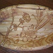 Посуда handmade. Livemaster - original item Dish: Floral pattern. Handmade.