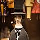 """Портретные куклы ручной работы. Ярмарка Мастеров - ручная работа. Купить Кукла-колокольчик """"Поэты и писатели"""". Handmade. Чёрно-белый"""