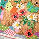Животные ручной работы. Картина Любимый Мишка. Ручная вышивка крестиком. Для детской комнаты.. Веселое настроение от Лизы Савчук. Ярмарка Мастеров.