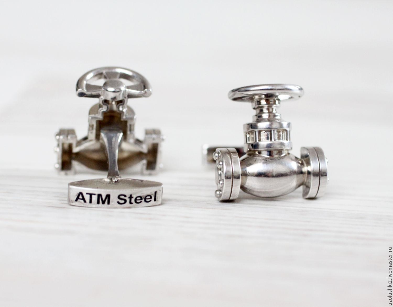 Запонки из серебра 925 пробы любой формы, Запонки, Магнитогорск,  Фото №1