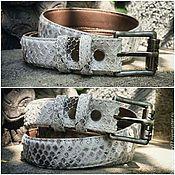 Аксессуары handmade. Livemaster - original item Belt made of genuine Python leather. Handmade.